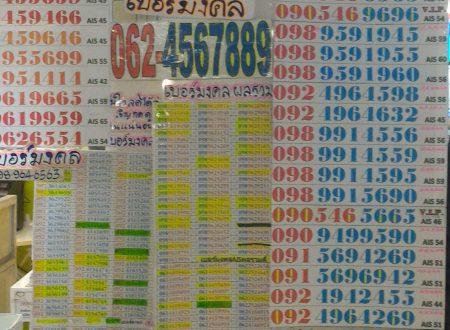 Bangkok ed i venditori di numeri