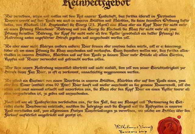 """L'editto di purezza del 1516 ed il """"Giorno delle Birre Tedesche"""""""