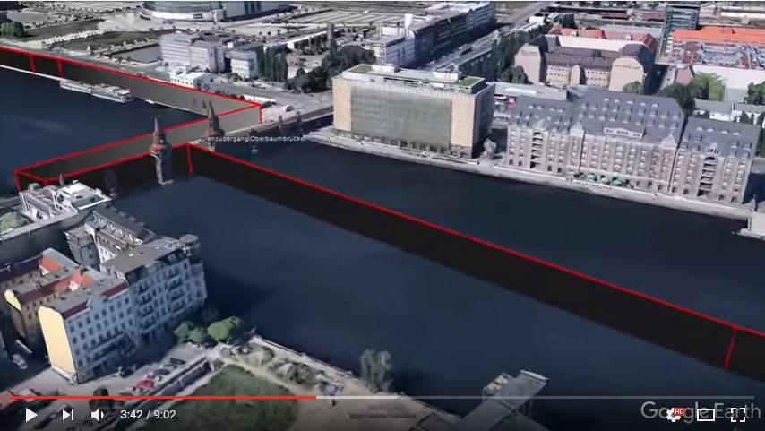 Come apparirebbe oggi Berlino con il Muro