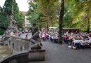 La fontana del vino di Rüdesheimer Platz