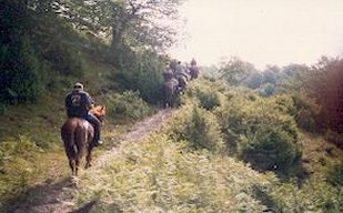 Cavalieri del Guado nel Parco del Matese