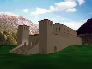 Ricostruzione virtuale dell'architetto Monaco