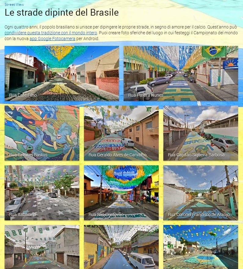 Le strade brasiliane su Google