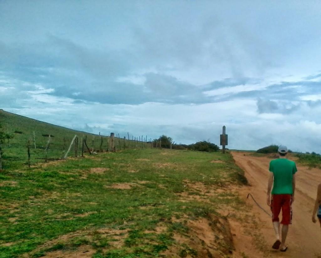 I primi passi della passeggiata da Jeri a Pedra Furada