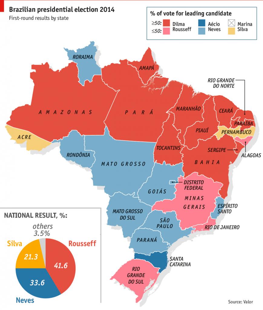 Elezioni in Brasile - Fonte grafico: The Economist