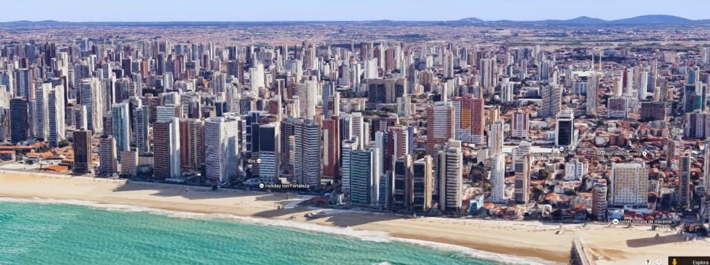 Ecco il lungo mare del centro, nel quartiere di Praia de Iracema