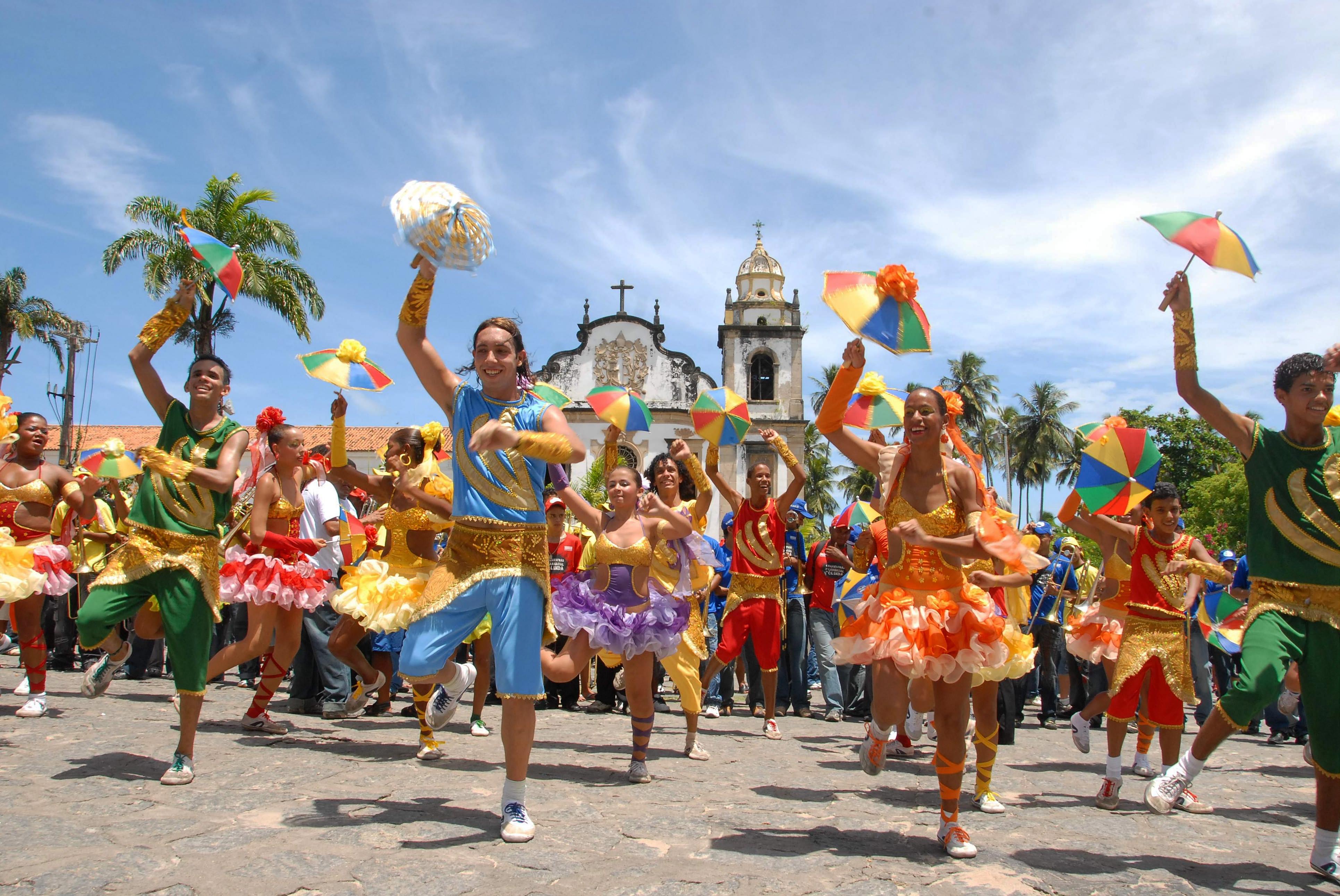 Ballerini di Frevo al Carnevale di Olinda