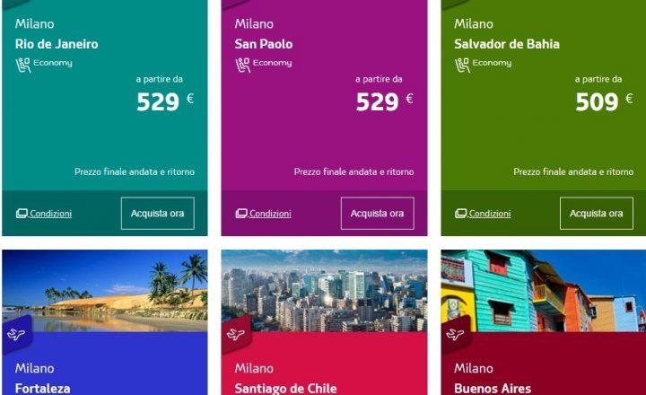 Vola in Brasile da settembre a dicembre 2016 a 500€