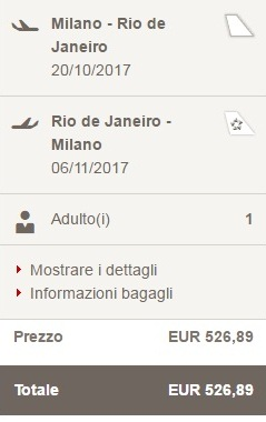 In Brasile con Swiss Air