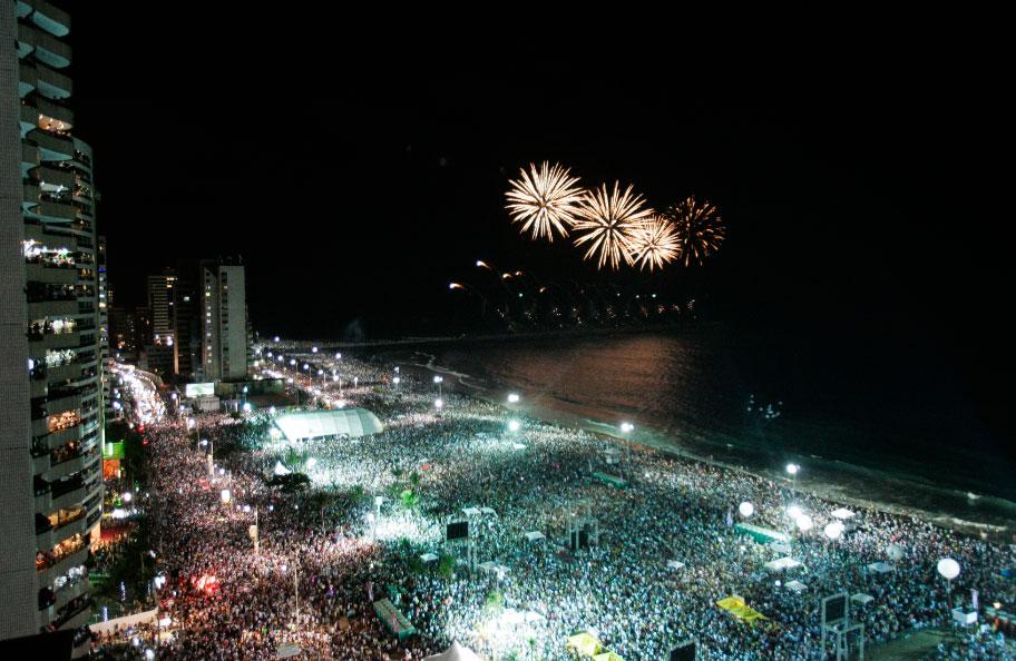 Reveillon Fortaleza 2018 in Praia de Iracema