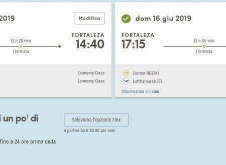 Giugno 2019 low cost a Fortaleza