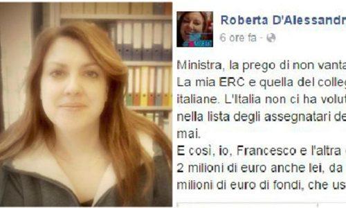 """La ricercatrice zittisce la Giannini: """"L'Italia non ci ha voluto, non si vanti dei nostri successi"""""""