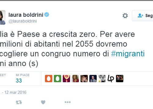 Cara Boldrini, ma si è accorta che espatriano 100.000 italiani all'anno???