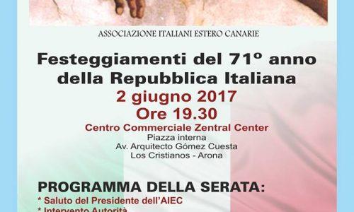 2 Giugno, la Festa della Repubblica italiana si festeggia anche a Tenerife