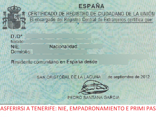Trasferirsi a Tenerife: NIE, empadronamiento e primi passi