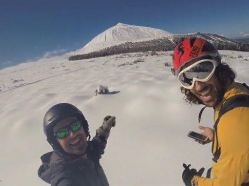 Snowboard a Tenerife ai piedi del vulcano Teide – Video