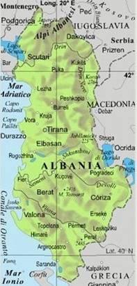 Cartina Albania Fisica.Albania Geografia E Natura Discoveralbania