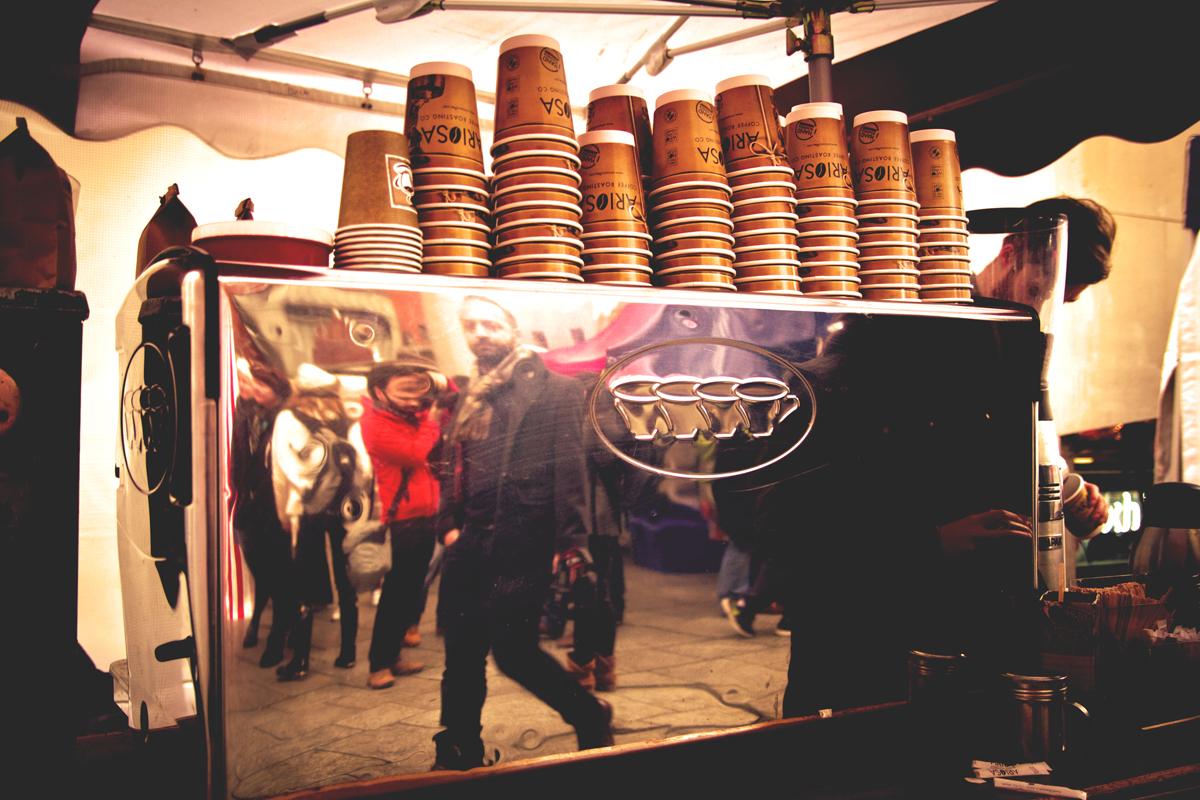 Espresso al Temple Bar Food Market (foto Paolo Bergomi)