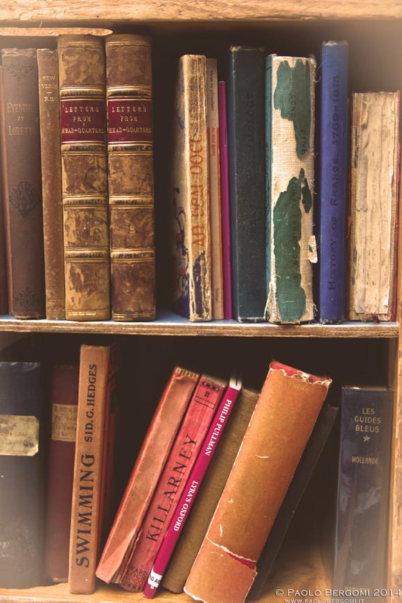 Mercato dei libri usati a Temple Bar, piccolo ma accattivante (foto Paolo Bergomi)