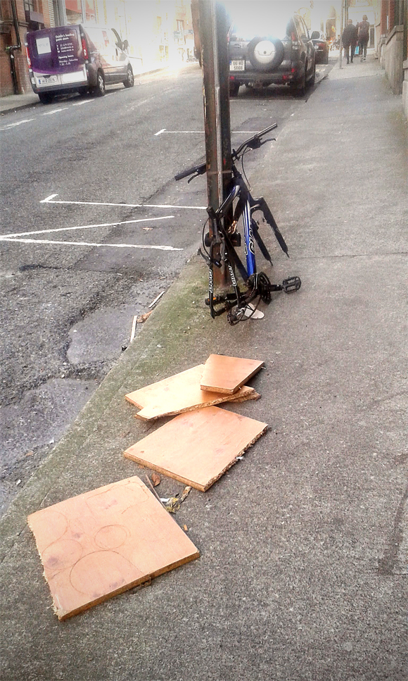 I furti delle biciclette sono all'ordine del giorno in centro città