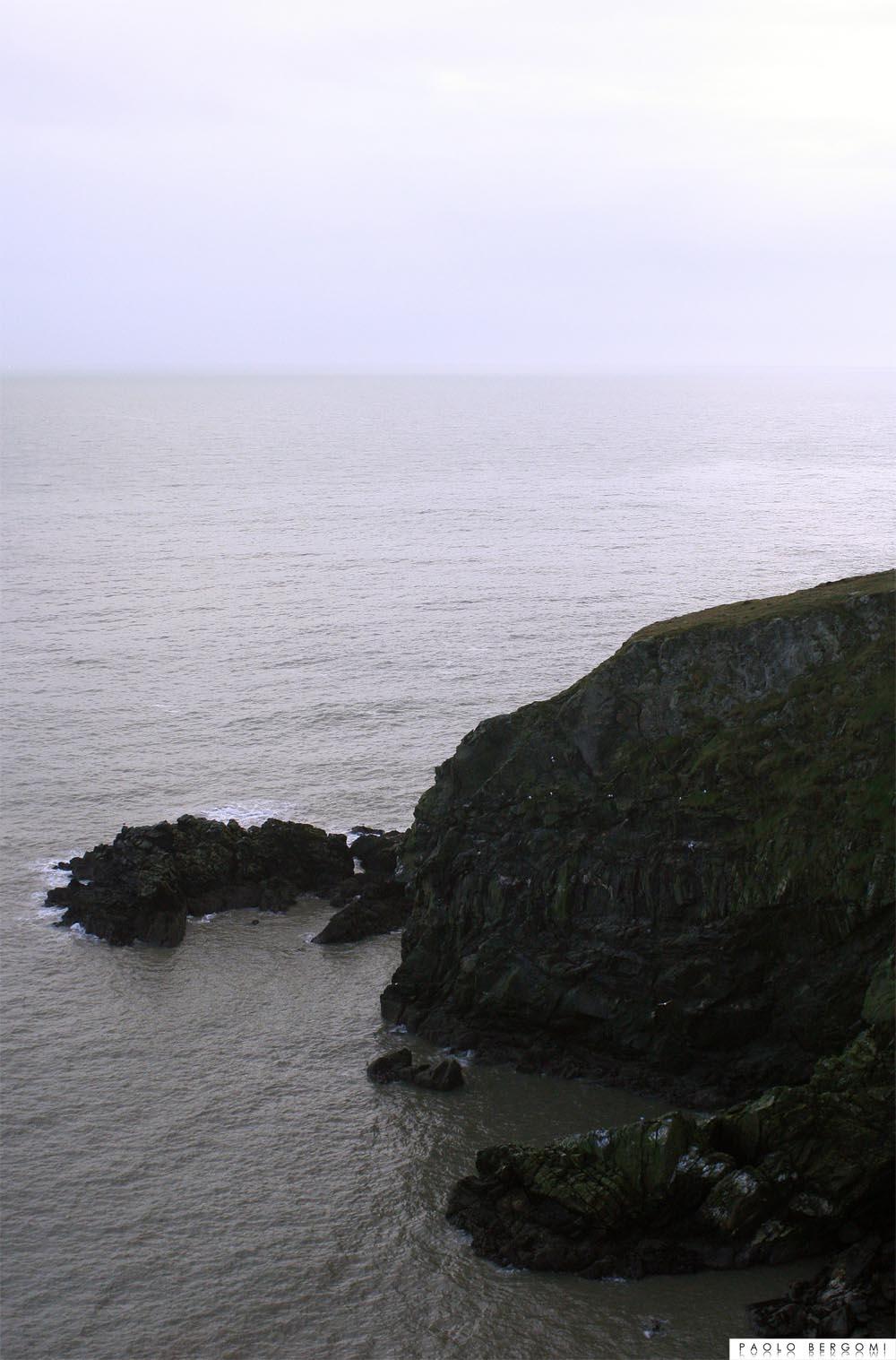 Howth, panorama dalla scogliera lungo il cammino