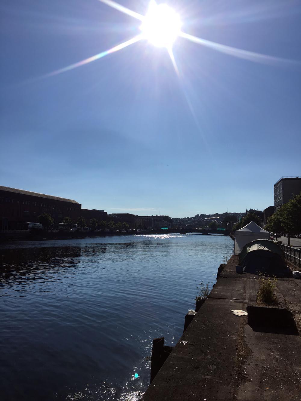 Tipico cielo di inizio luglio 2018 a Cork