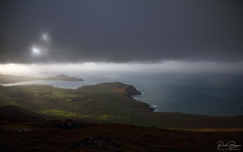 Panorama dalla vetta sul lato nord della costa