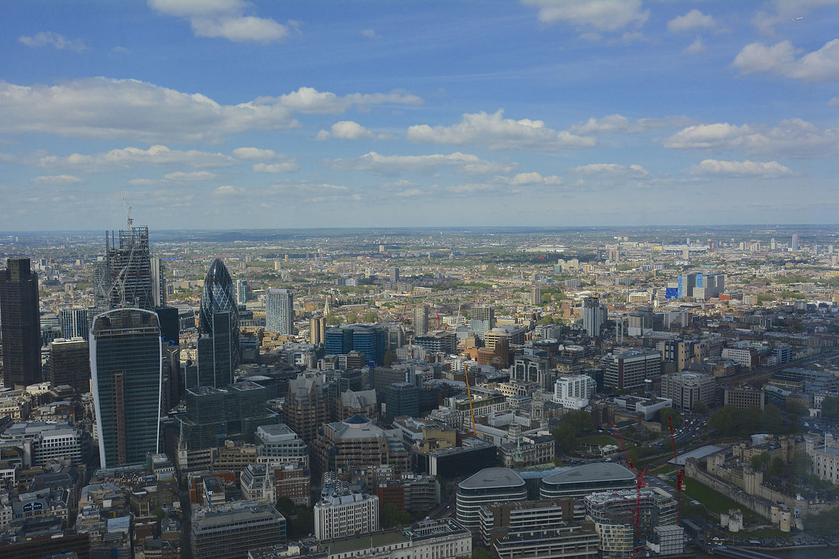 """The Shard, The View From The Viewing Platform (9329576286)"" by Martin Pettitt from Bury St Edmunds, UK. - The Shard, The View From The Viewing Platform.. Licenced under CC BY 2.0 via Wikimedia Commons."