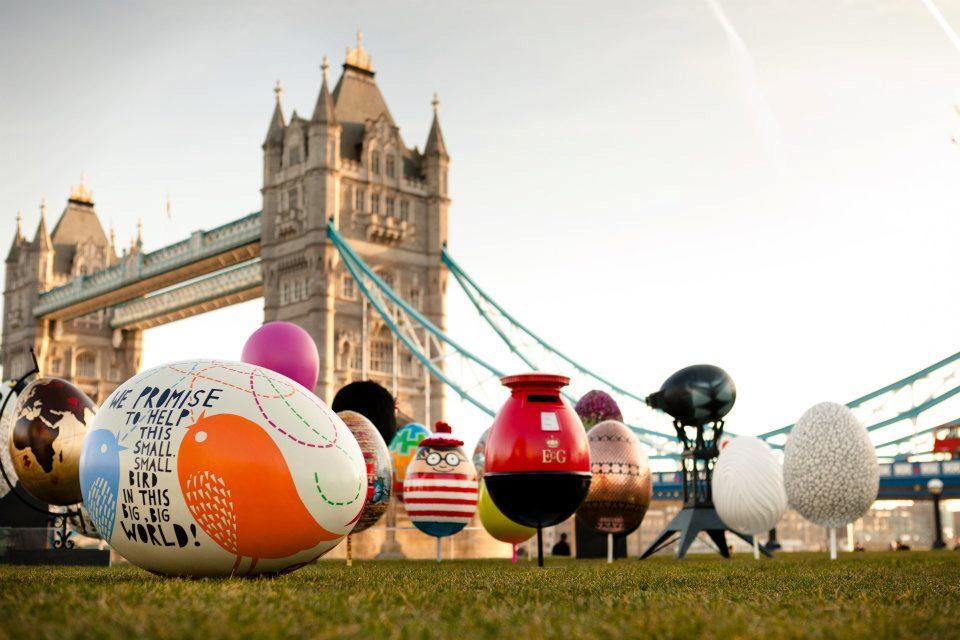 La Big Egg Hunt è stata un'iniziativa a scopo di beneficienza organizzata da Faberge nel 2012. Più di 200 di queste incredibili uova erano sparpagliate in giro per la capitale.