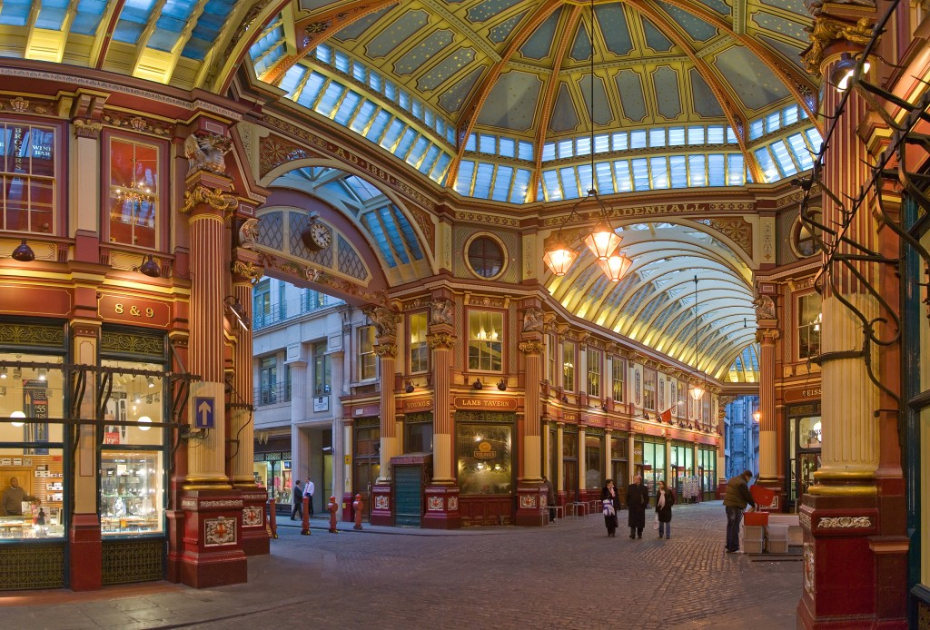 """Leadenhall Market In London - Feb 2006 rotated"" by Diliff - File:Leadenhall Market In London - Feb 2006.jpg. Licensed under CC BY 2.5 via Wikimedia Commons."