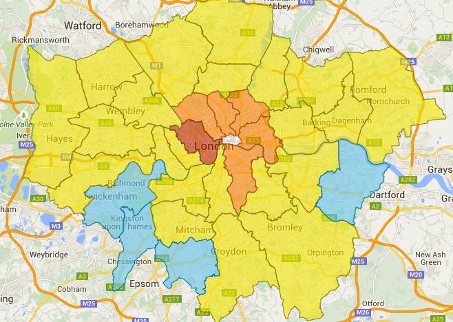 Zone Di Londra Cartina.Londra E Una Citta Pericolosa