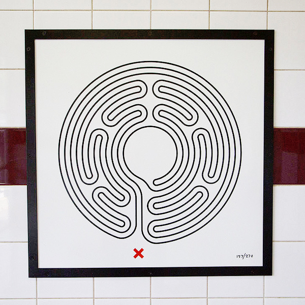"""Mark Wallinger Labyrinth 157 - Roding Valley"" by Jack Gordon - Own work. Licensed under CC BY-SA 4.0 via Wikimedia Commons."
