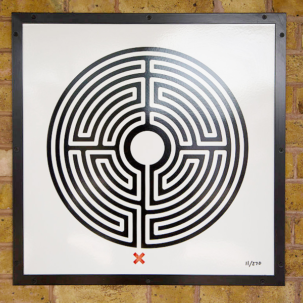 """Mark Wallinger Labyrinth 11 - Pinner"" by Jack Gordon - Own work. Licensed under CC BY-SA 4.0 via Wikimedia Commons."