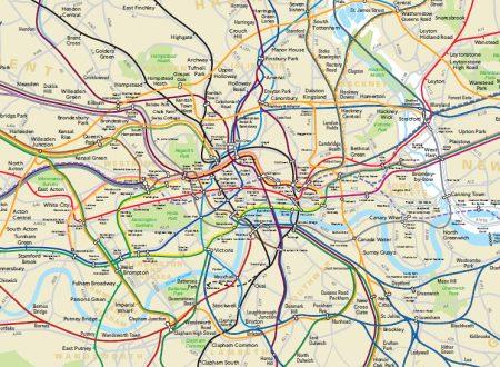 La mappa geografica della London Tube vi aiuterà a non perdervi (forse)