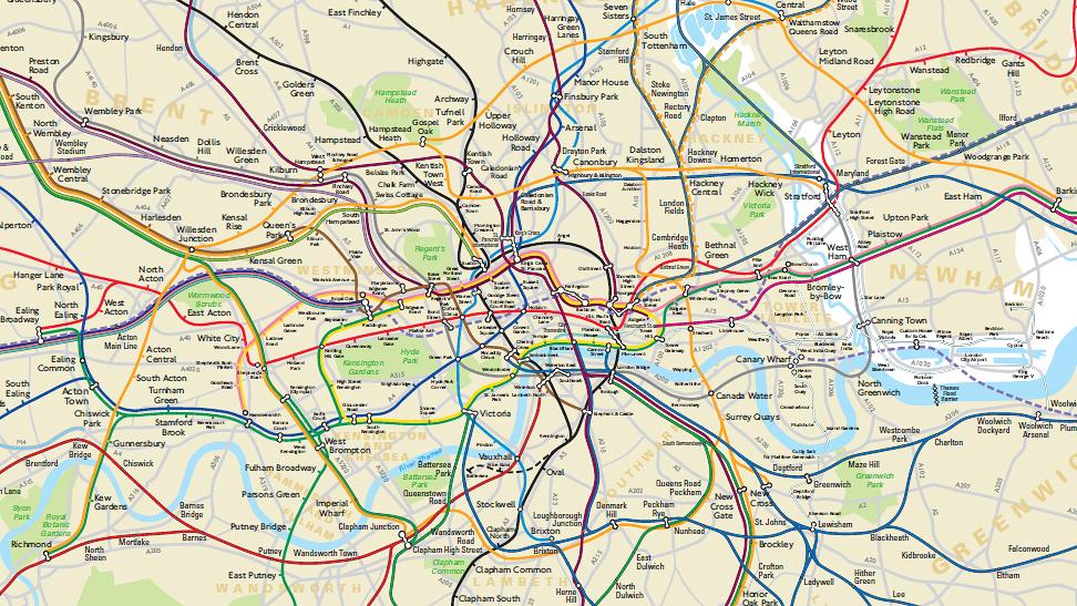 Zone Di Londra Cartina.La Mappa Geografica Della London Tube Vi Aiutera A Non Perdervi Forse