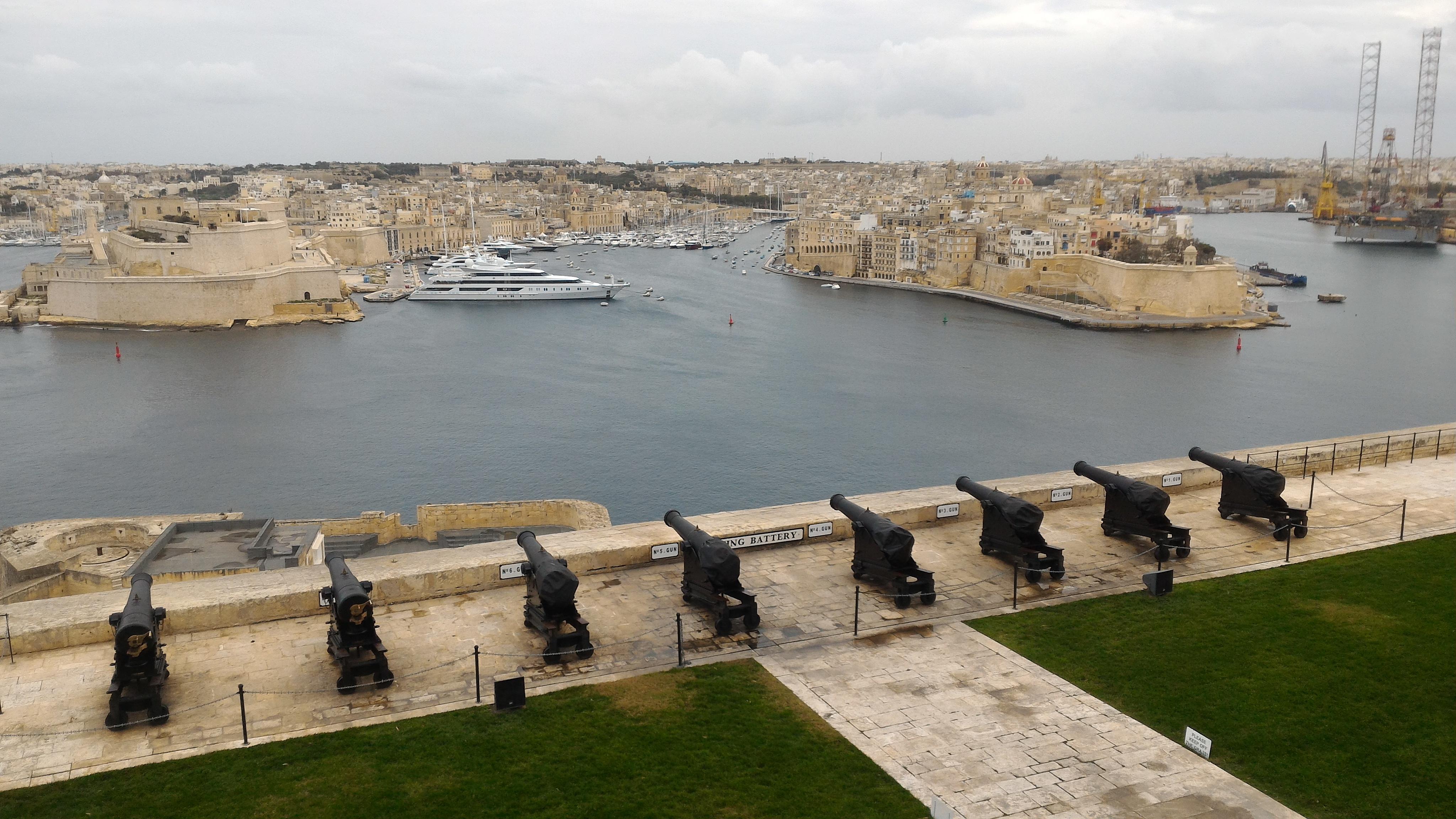 Malta e Gozo in inverno - The Saluting Battery, La Valletta