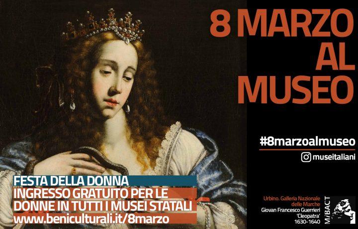 8 marzo al museo Giovan Francesco Guerrieri Cleopatra