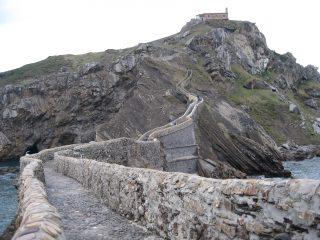 La salita verso San Juan de Gaztelugatxe