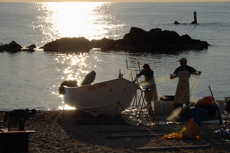 Pescatori a Porto Recanati