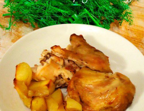 Coniglio in porchetta con le patate