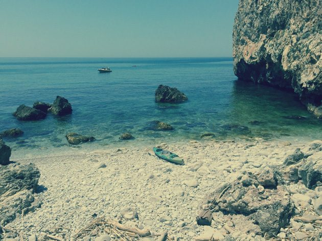 The Prisoner's beach at Circeo National Park