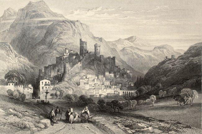 Il borgo e il castello di Itri