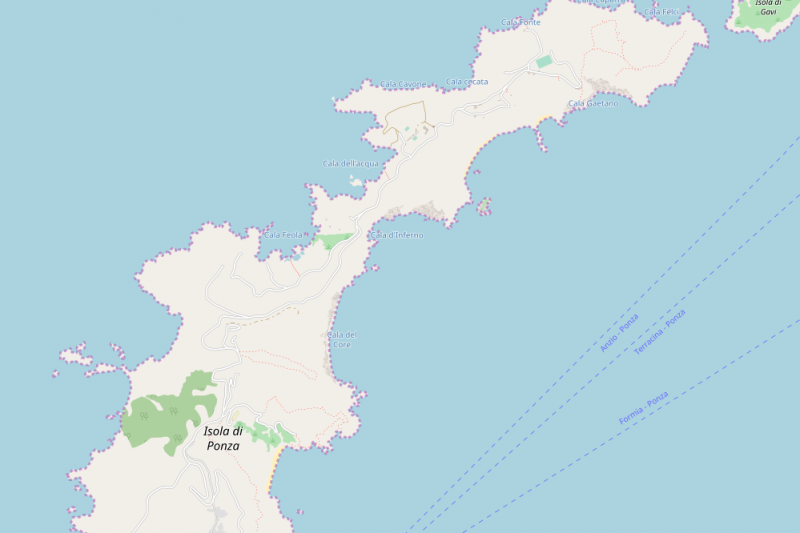 Ponza: cartina e mappa