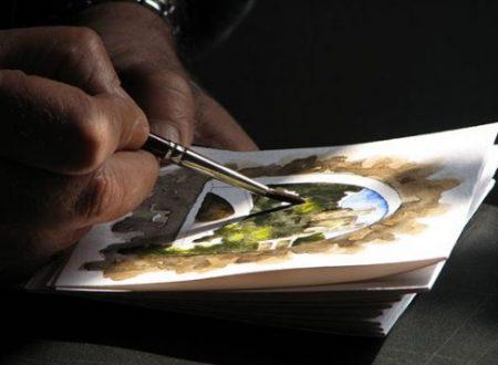 Oreste Polidori, un'artista come pochi sanno esserlo..tra i vicoli di un'antico borgo mediovale a disegnare..