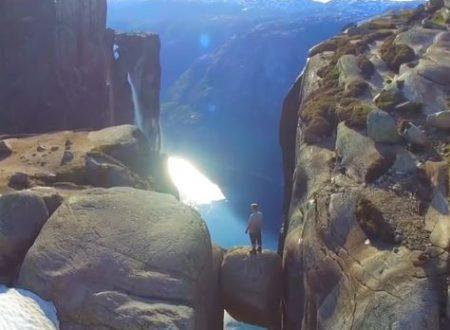 Un video mozzafiato girato in Norvegia da un drone.