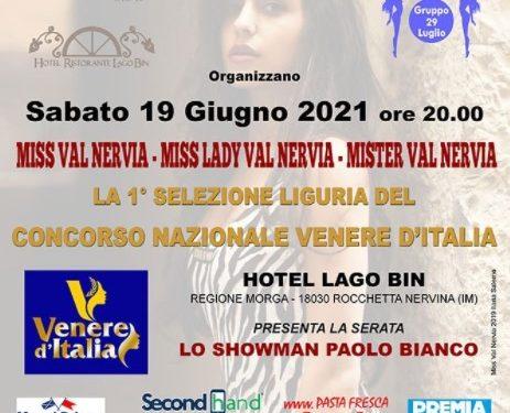 Liguria. Al via la selezione delle Miss. Concorso nazionale Venere d'Italia.