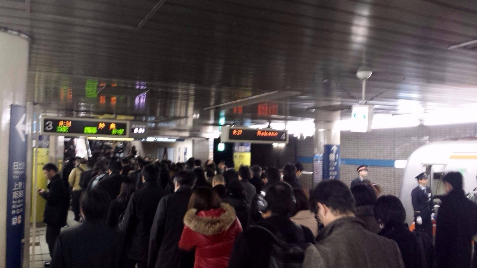 "La ""deserta"" metropolitana di Tokyo"