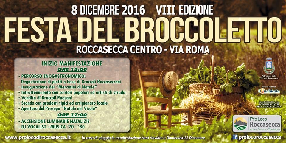 Roccasecca- locandina- festa del broccoletto 2016