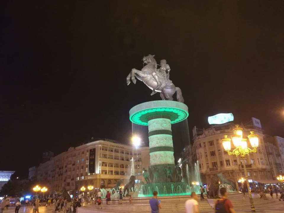 Statua di Filippo il Macedone a Skopje