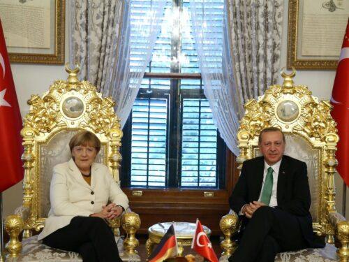 Angela Merkel a Istanbul